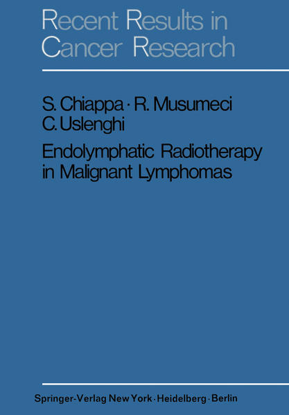 Endolymphatic Radiotherapy in Maglignant Lymphomas - Coverbild