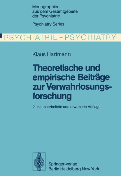 Theoretische und empirische Beiträge zur Verwahrlosungsforschung - Coverbild