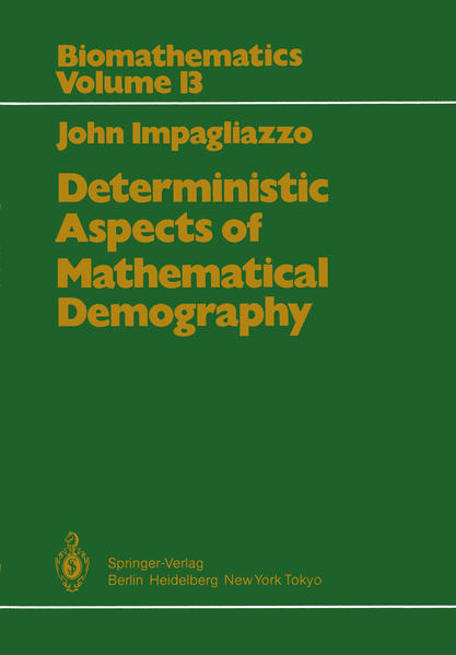 Deterministic Aspects of Mathematical Demography - Coverbild