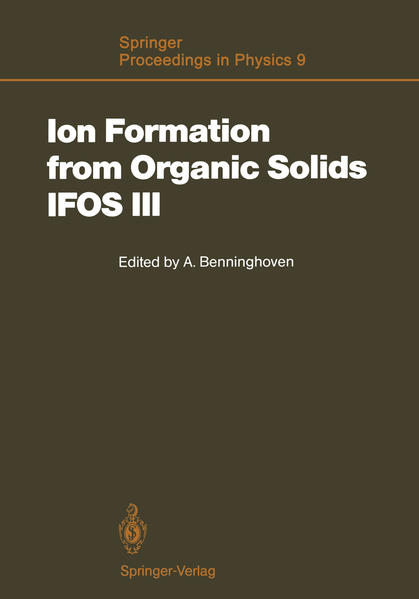Ion Formation from Organic Solids (IFOS III) - Coverbild