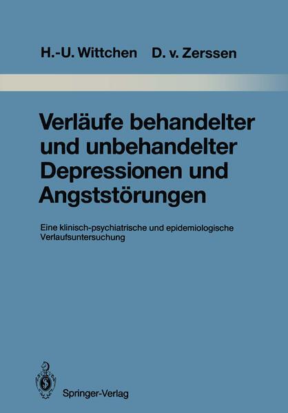 Verläufe behandelter und unbehandelter Depressionen und Angststörungen - Coverbild