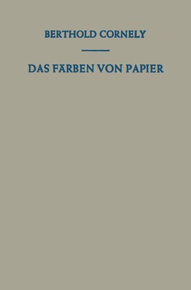 Das Färben von Papier - Coverbild