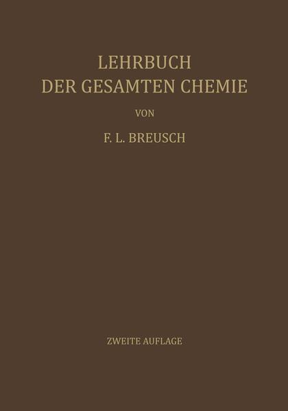 Lehrbuch der Gesamten Chemie - Coverbild