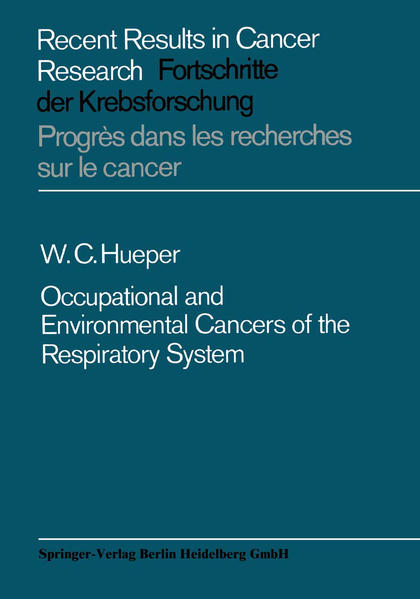Occupational and Environmental Cancers of the Respiratory System - Coverbild