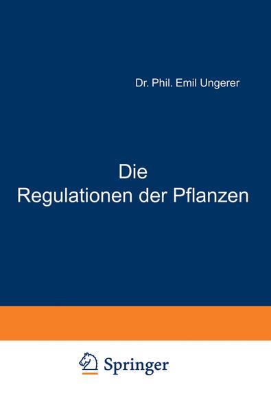 Die Regulationen der Pflanzen - Coverbild
