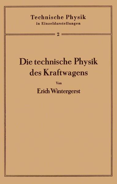 Die technische Physik des Kraftwagens - Coverbild