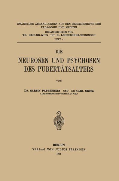 Die Neurosen und Psychosen des Pubertätsalters - Coverbild