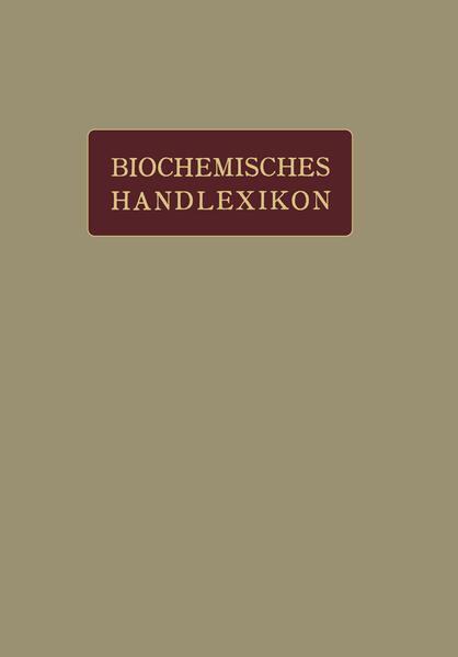 Biochemisches Handlexikon - Coverbild