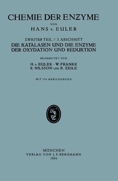 Die Katalasen und die Enzyme der Oxydation und Reduktion - Coverbild