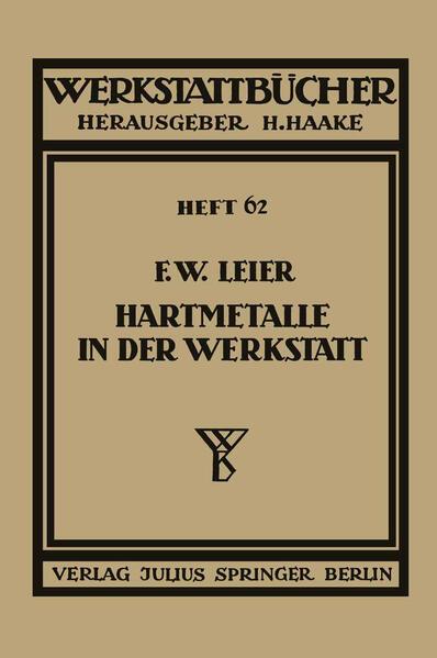 Hartmetalle in der Werkstatt - Coverbild