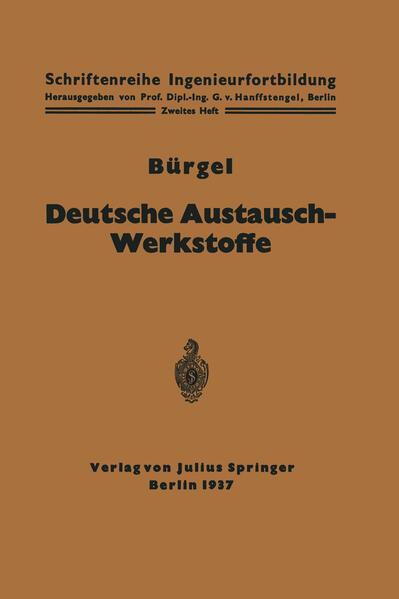 Deutsche Austausch-Werkstoffe - Coverbild