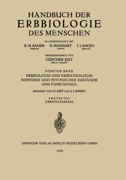 Erbbiologie und Erbpathologie Nervöser und Psychischer Ƶustände und Funktionen - Coverbild
