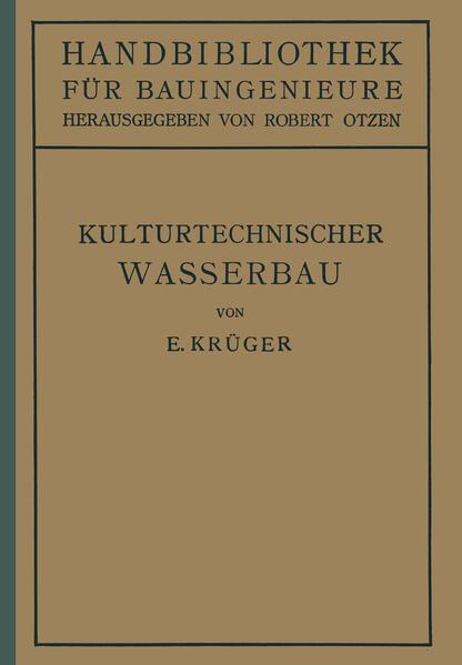 Kulturtechnischer Wasserbau - Coverbild