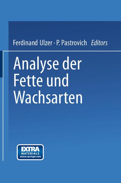 Analyse der Fette und Wachsarten - Coverbild