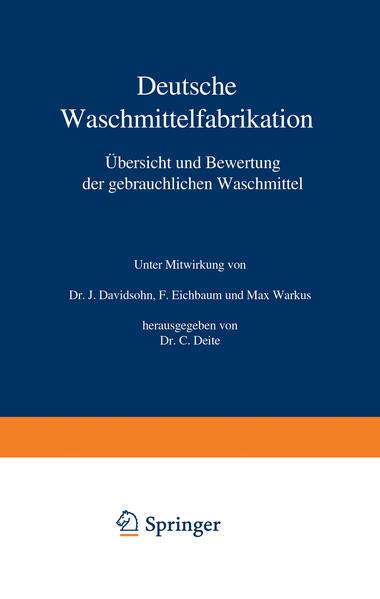Deutsche Waschmittelfabrikation - Coverbild