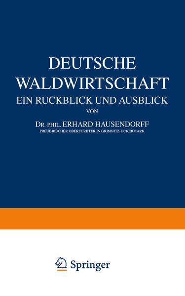 Deutsche Waldwirtschaft - Coverbild