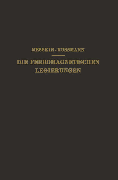 Die Ferromagnetischen Legierungen und Ihre Gewerbliche Verwendung - Coverbild