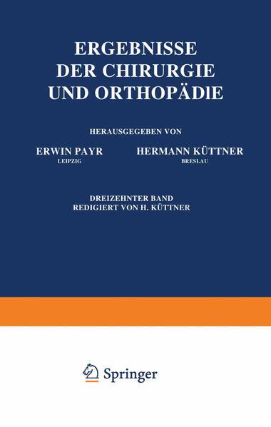 Ergebnisse der Chirurgie und Orthopädie - Coverbild