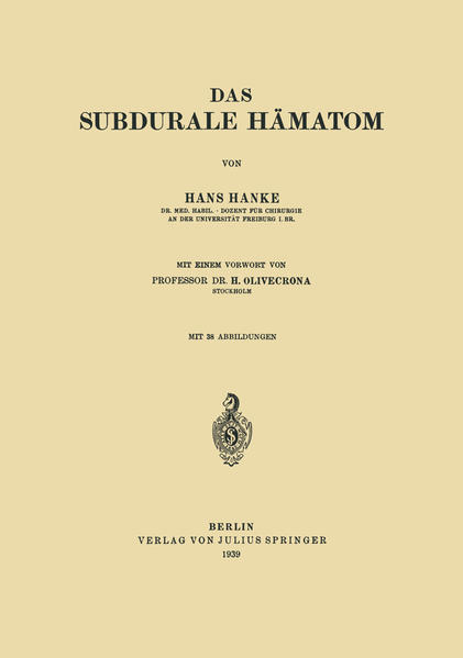 Das subdurale Hämatom - Coverbild