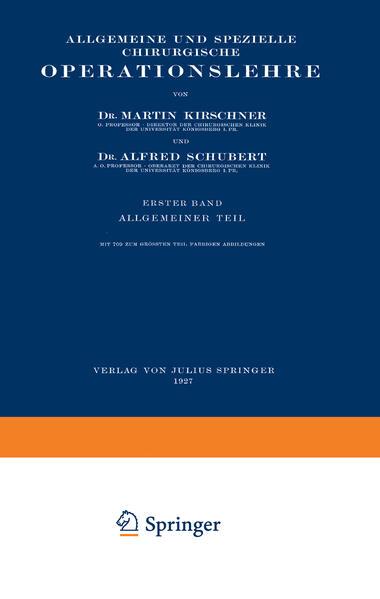 Allgemeine und Spezielle Chirurgische Operationslehre - Coverbild