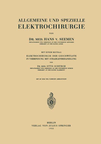 Allgemeine und Spezielle Elektrochirurgie - Coverbild