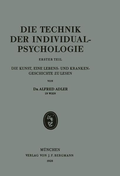 Die Technik der Individualpsychologie - Coverbild