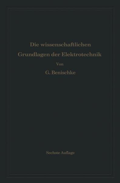 Die wissenschaftlichen Grundlagen der Elektrotechnik - Coverbild