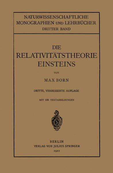 Die Relativitätstheorie Einsteins und Ihre Physikalischen Grundlagen - Coverbild