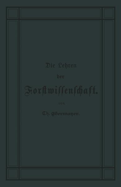Die Lehren der Forstwissenschaft - Coverbild