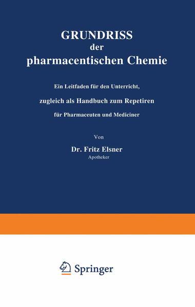 Grundriss der pharmaceutischen Chemie - Coverbild