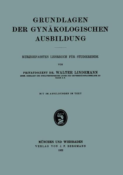 Grundlagen der Gynäkologischen Ausbildung - Coverbild