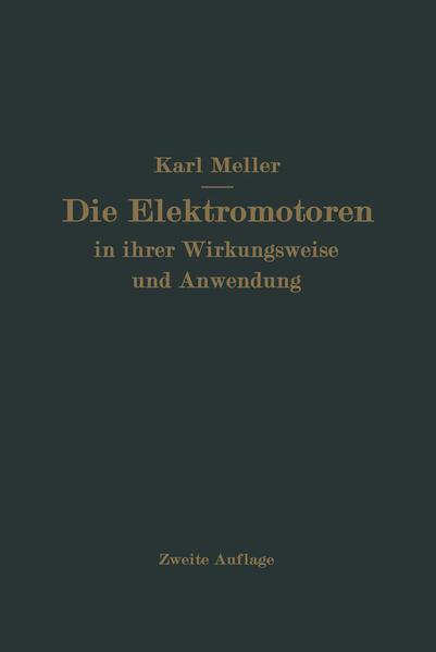 Die Elektromotren in ihrer Wirkungsweise und Anwendung - Coverbild