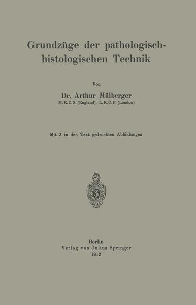 Grundzüge der pathologisch-histologischen Technik - Coverbild