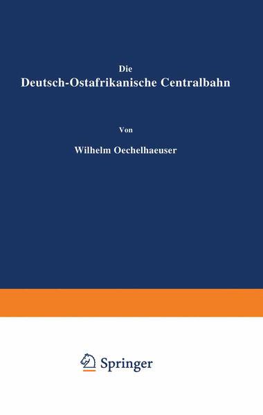 Die Deutsch-Ostafrikanische Centralbahn - Coverbild