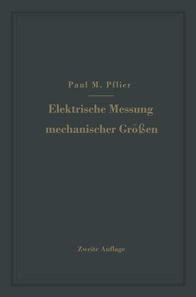 Elektrische Messung mechanischer Größen - Coverbild