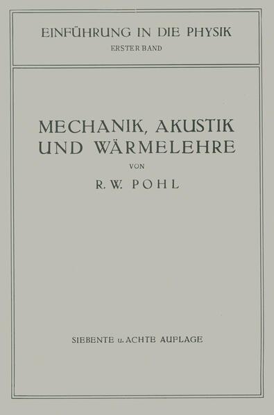 Einführung in die Mechanik, Akustik und Wärmelehre - Coverbild