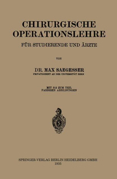 Chirurgische Operationslehre - Coverbild