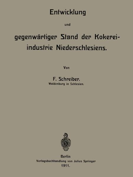 Entwicklung und gegenwärtiger Stand der Kokereiindustrie Niederschlesiens - Coverbild