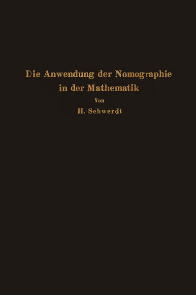 Die Anwendung der Nomographie in der Mathematik - Coverbild
