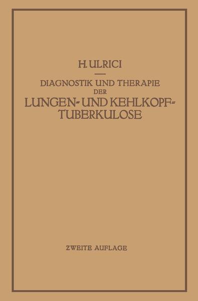 Diagnostik und Therapie der Lungen- und Kehlkopftuberkulose - Coverbild