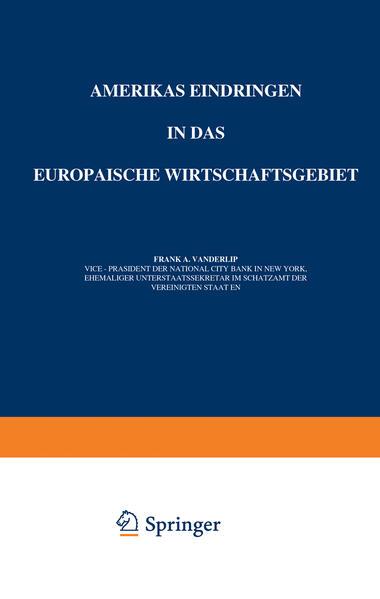 Amerikas Eindringen in Das Europäische Wirtschaftsgebiet - Coverbild