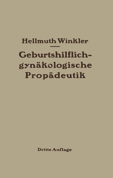 Geburtshilflich-gynäkologische Propädeutik - Coverbild