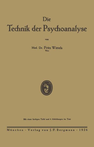 Die Technik der Psychoanalyse - Coverbild