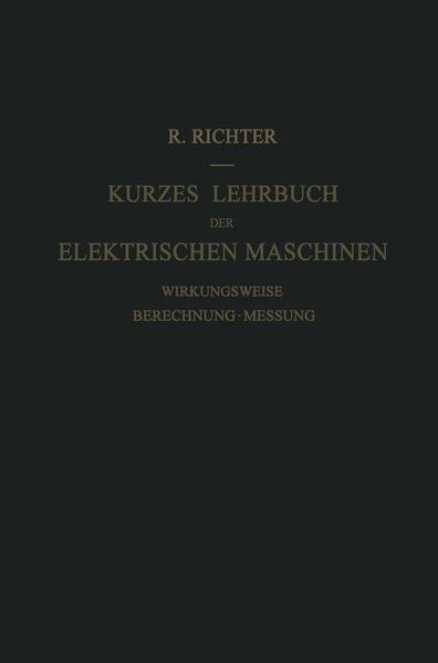 Kurzes Lehrbuch der Elektrischen Maschinen - Coverbild