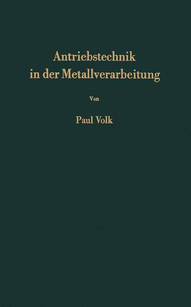 Antriebstechnik in der Metallverarbeitung - Coverbild