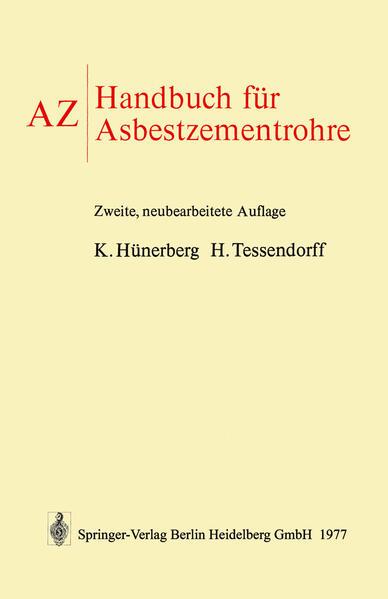 AZ Handbuch für Asbestzementrohre - Coverbild
