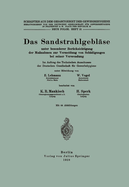 Das Sandstrahlgebläse - Coverbild