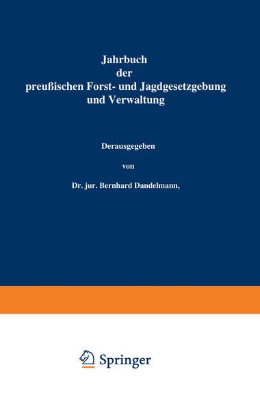 Jahrbuch der Preußischen Forst- und Jagdgesetzgebung und Verwaltung - Coverbild