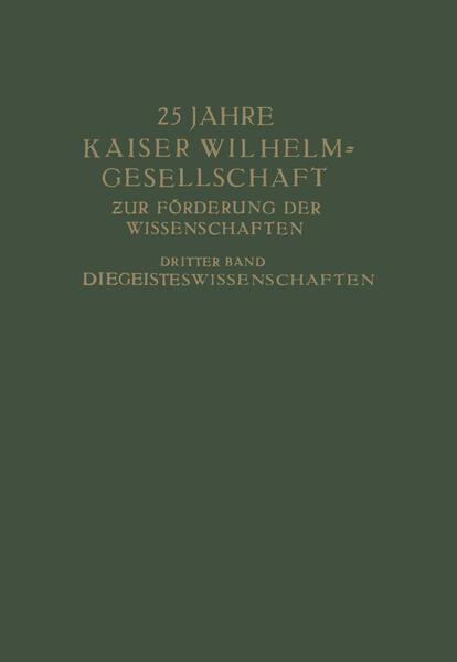 25 Jahre Kaiser Wilhelm-Gesellschaft - Coverbild