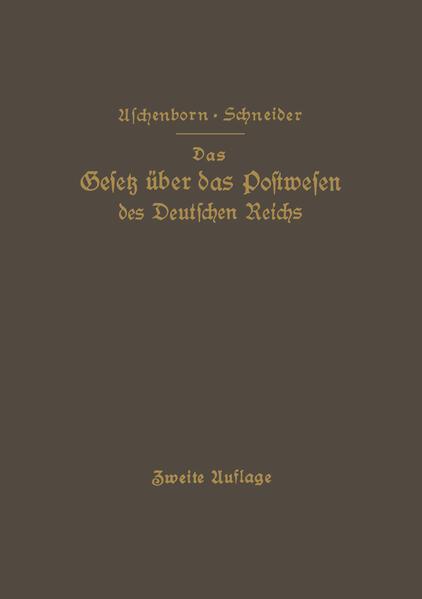 Das Gesetz über das Postwesen des Deutschen Reichs - Coverbild